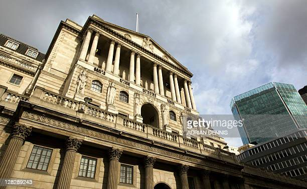 The facade of the headquarters of the Bank of England in London on October 6 2011 The Bank of England on Thursday reactivated extraordinary stimulus...