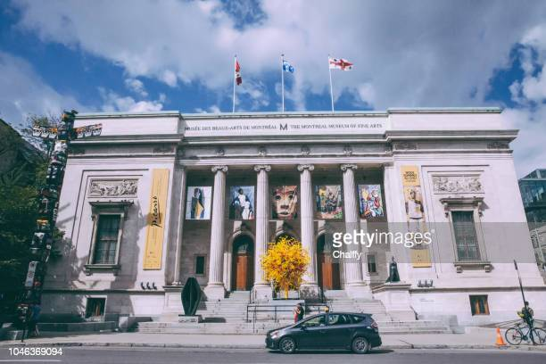 the facade of the montreal museum of fine art - montréal stock pictures, royalty-free photos & images