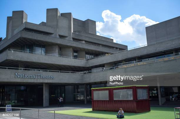 The facade of The National Theatre is seen at London's Southbank on August 1 2017 The Royal National Theatre in London is one of the United Kingdom's...