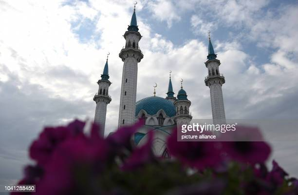 The facade of the Qol Sharif mosque stands tall in the city of Kazan Russia 11 July 2015 Photo Marcus Brandt/dpa | usage worldwide