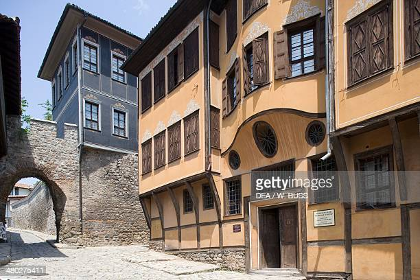 The facade of the Renaissance style house built for the merchant Dimitri Georgiady old town of Plovdiv Bulgaria