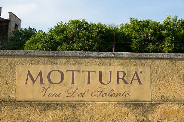 the facade of the winemaker Mottura, Tuglie - Salento, Puglia, Italy