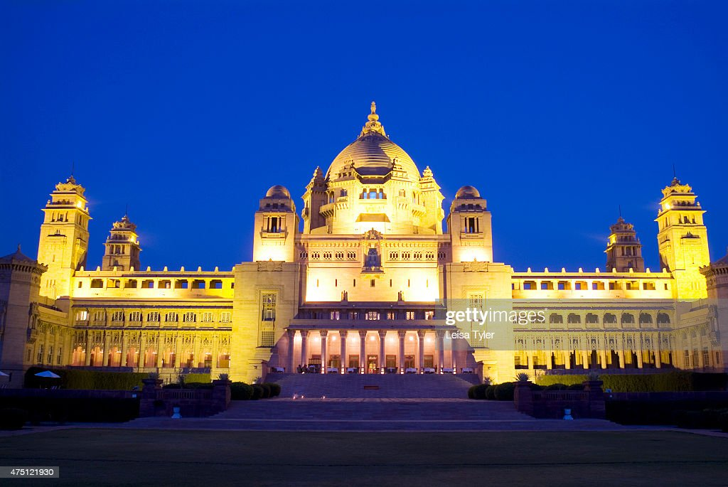 The facade of Umaid Bhawan palace. With 76 guest rooms,... : Nieuwsfoto's