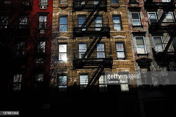 The facades of buildings are viewed in a area of the East Village that the city of New York wants to declare a historic district on January 23 2012...