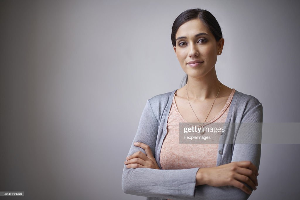The face of an up and coming businesswoman : Stock Photo