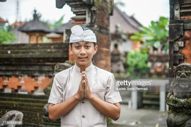 the face of balinese boy - balinese culture stock pictures, royalty-free photos & images