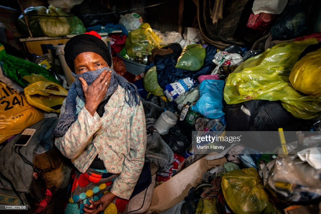 The face of desperate poverty during Corona Virus Covid-19 lockdown, South Africa : Stock Photo