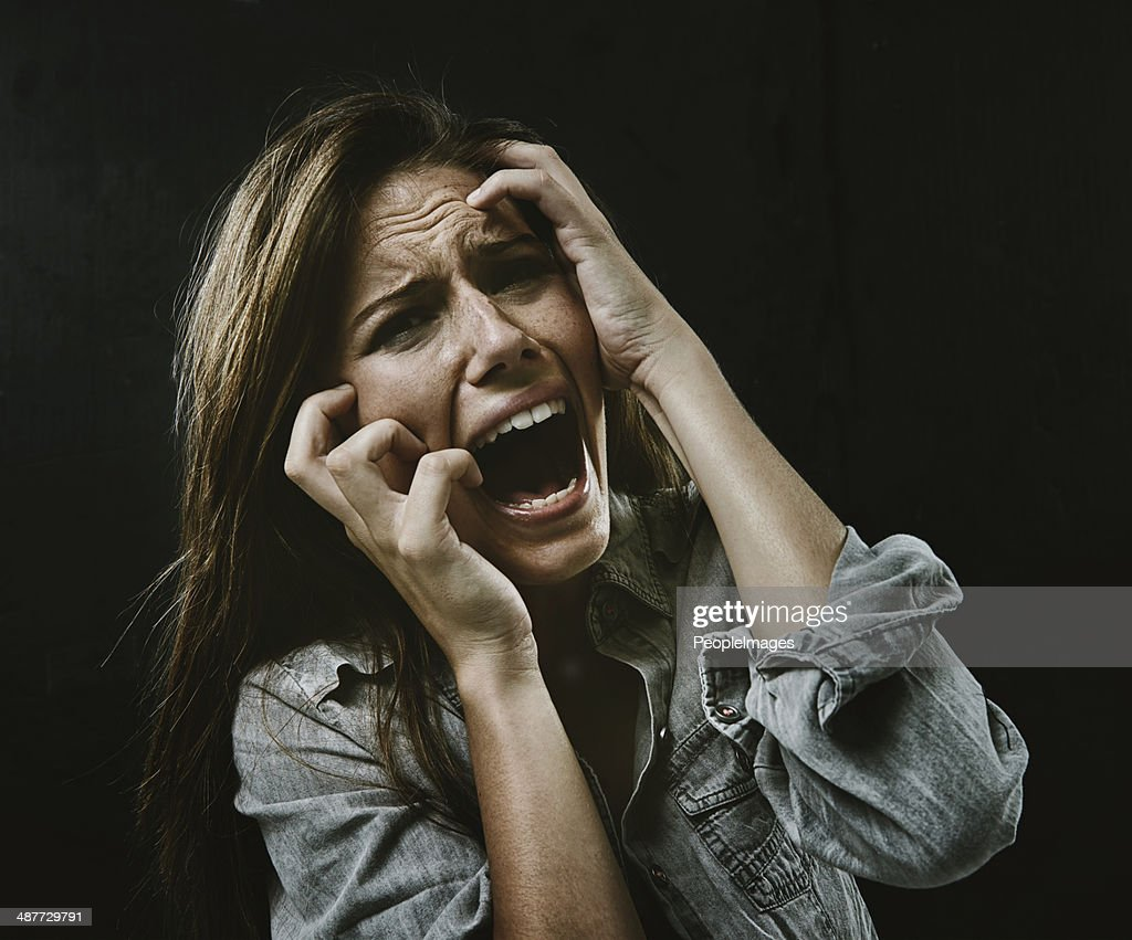 The face of desperation : Stock Photo