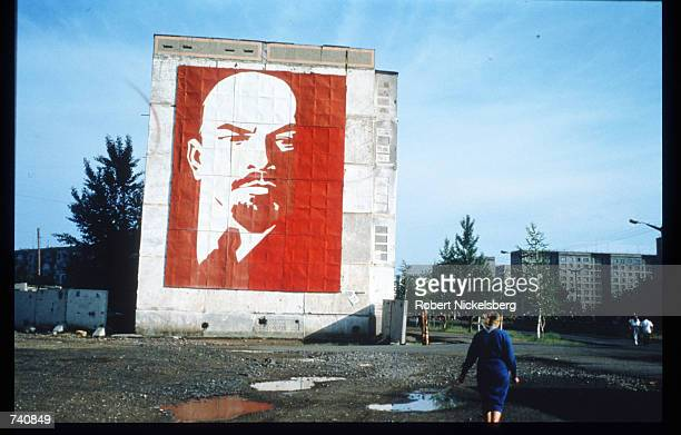The face of Lenin is displayed on a wall September 1994 in Ekibastuz Kazakhstan Kazakhstan contains vast mineral resources and has a large reserve of...