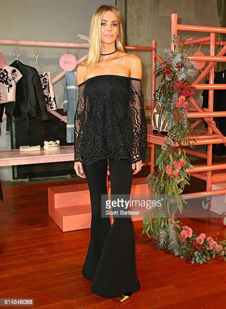 The Face of Myer Jennifer Hawkins poses at the Myer Contemporary Brands Collections at the George Ballroom on March 10 2016 in Melbourne Australia