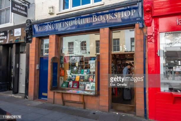 ポルトベッロのこの書店の顔は、映画ノッティングヒルに使用されました。ヒュー・グラントの書店「トラベルブックショップ」 - ノッティングヒル ストックフォトと画像