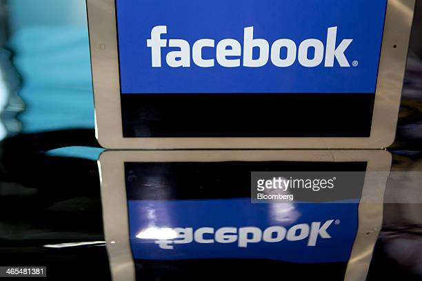 The Facebook Inc logo is displayed on an Apple Inc iPad Air in this arranged photograph in Washington DC US on Monday Jan 27 2014 Facebook Inc is...