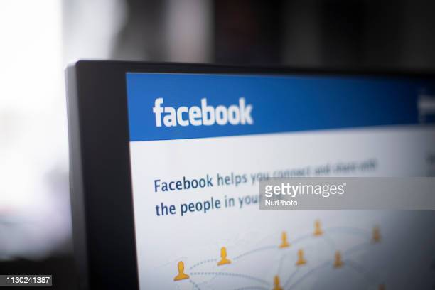 The Facebook login screen is seen in this photo illustration on March 13 2019 in Warsaw Poland