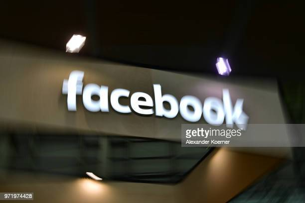 The Facebook logo is displayed at the 2018 CeBIT technology trade fair on June 12 2018 in Hanover Germany The 2018 CeBIT is running from June 1115