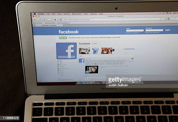 The Facebook website is displayed on a laptop computer on May 9 2011 in San Anselmo California An investigation by The Pew Research Center found that...