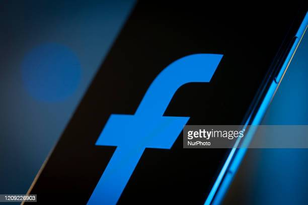 The Faceook logo is seen on an iPhone 11 Pro Max in this illustration photo in Warsaw Poland on April 4 2020