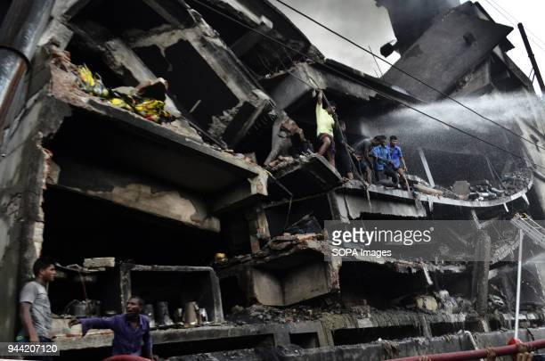The factory building seen after the fire At least 34 workers died in a fire that ripped through a factory in Bangladesh The fire was so fierce it...