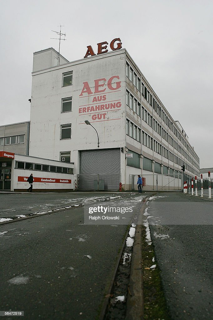 AEG / Electrolux Plant Faces Closure : News Photo