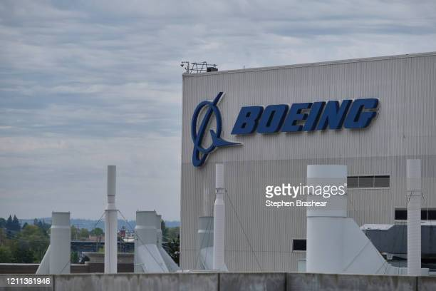 The factory where Boeing manufactures is 737 MAX airplane is shown on April 29 2020 in Renton Washington Boeing announced during an earnings call...