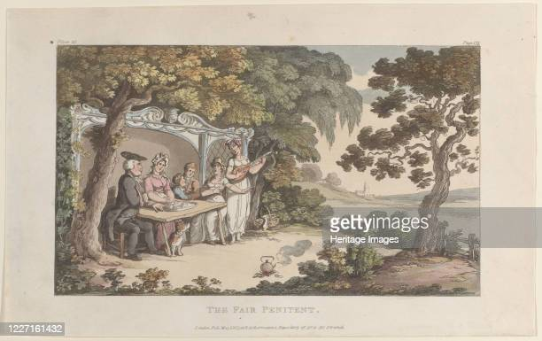 The Fair Penitent from The Vicar of Wakefield May 1 1817 Artist Thomas Rowlandson