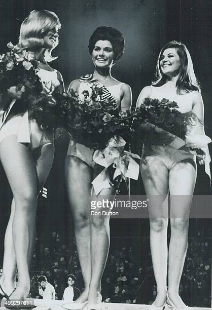 The fairest of them all miss Toronto is in the centre From left Kristi Secord who placed second Lucille Boucher winner Shirley Ann MacDonald third