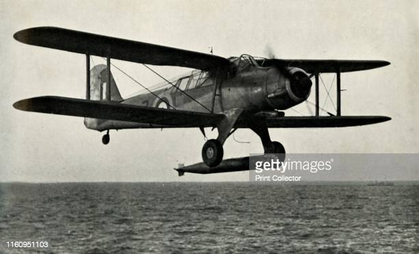 """'The Fairey Albacore', 1941. British single-engine torpedo bomber built by Fairey Aviation, used during the Second World War. From """"The Royal Air..."""
