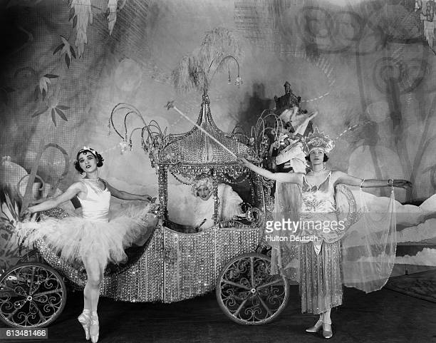 The fairies create a coach for Cinderella to got to the ball in a pantomime version of the fairy tale