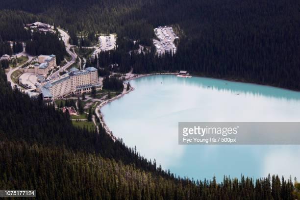 the fairmont chateau lake louise - chateau lake louise - fotografias e filmes do acervo