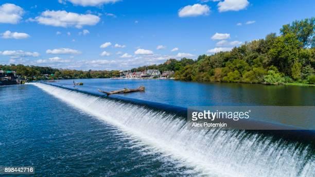The Fairmont Dam in the Schuylkill Rowing Basine, Philadelphia, PA