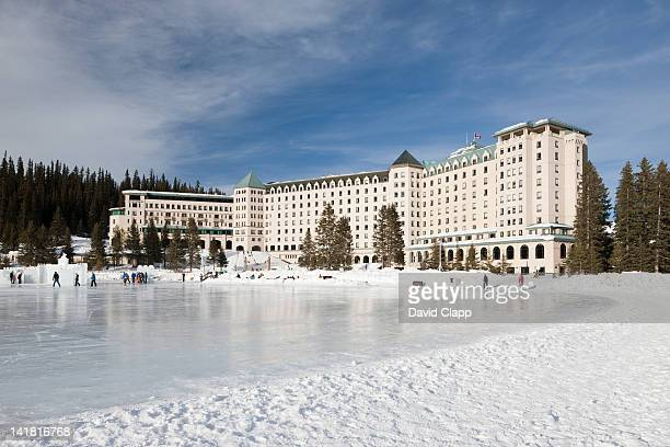 The Fairmont Hotel in Lake Louise, Banff National Park, in the Alberta, Canadian Rockies, Canada
