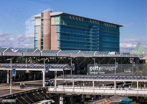 The Fairmont Hotel, located in the Vancouver International Airport terminal, is viewed on June 2, 2013 in Vancouver, British Columbia, Canada....