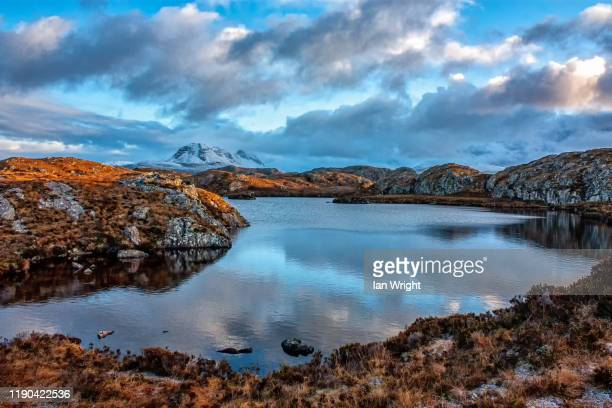 the fairy lochans of gairloch - moment of silence stock pictures, royalty-free photos & images