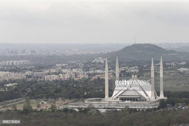 The Faisal Mosque is one of the most popular mosques in the world with 74.000 prayer capacity in Islamabad, Pakistan on March 14, 2018. The project...