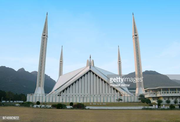 the faisal mosque . - islamabad stock pictures, royalty-free photos & images