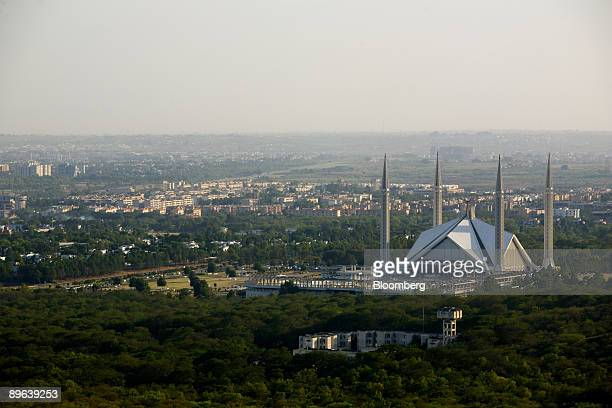 The Faisal Mosque sits just above the skyline of Islamabad Pakistan on Tuesday June 23 2009 The US says Taliban militants threaten the stability of...