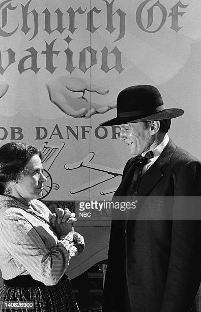 PRAIRIE The Faith Healer Episode 10 Aired 11/19/79 Pictured Katherine MacGregor as Harriet Oleson James Olson as Reverend Jacob Danforth Photo by...