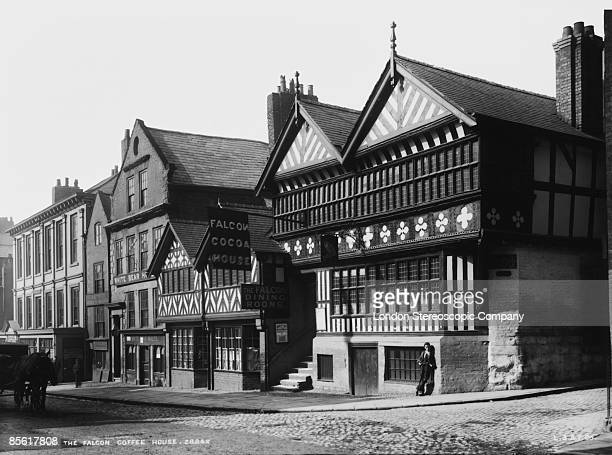 The Falcon Inn in Lower Bridge Street in the town of Chester Cheshire circa 1900