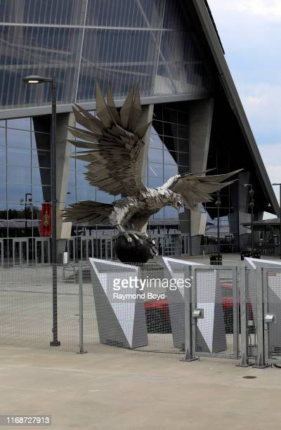 The 'Falcon' sculpture outside architects HOK tvdesign Goode Van Slyke and Stanley Beaman Sears' MercedesBenz Stadium home of the Atlanta Falcons...