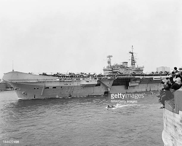 The Falklands War April June 1982 HMS HERMES leaves Portsmouth for the South Atlantic 5 April 1982