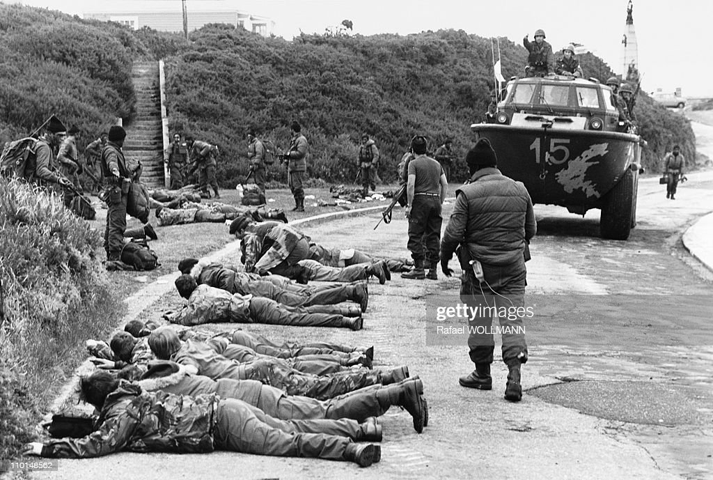 The Falklands War In Port Stanley, Falkland Islands In April, 1982. : Foto di attualità