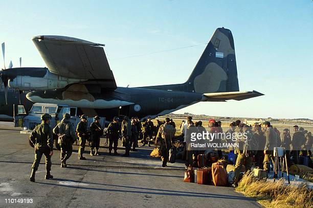 The Falklands War in Port Stanley GrandeBretagne in April 1982