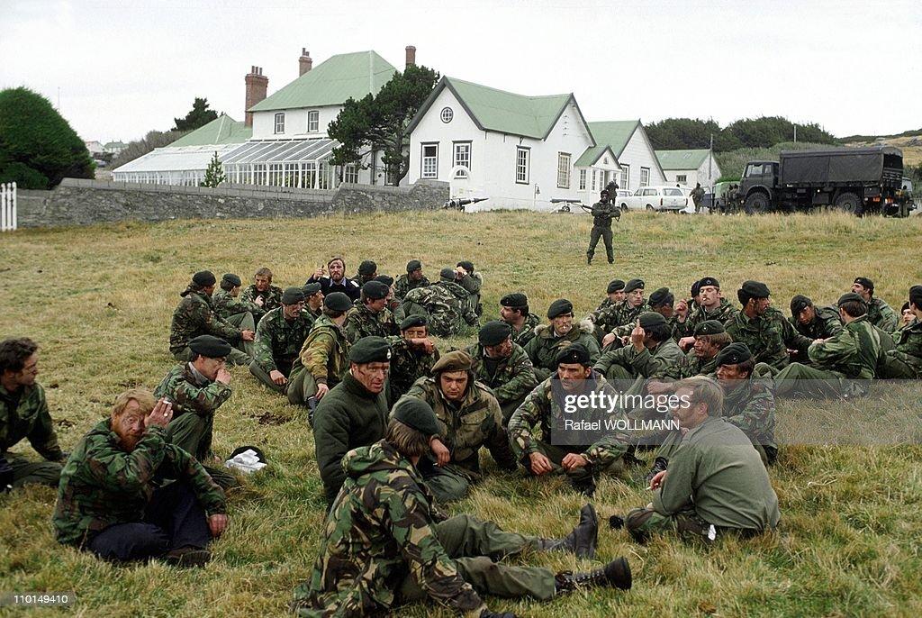 The Falklands War In Port Stanley, Grande-Bretagne In April, 1982. : Nachrichtenfoto