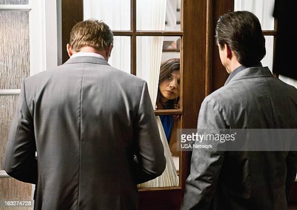 ROUGHNESS 'The Fall Guy' Episode 214 Pictured Marc Blucas as Matthew 'Matt' Donnally Callie Thorne as Dr Danielle 'Dani' Santino Scott Cohen as Nico...