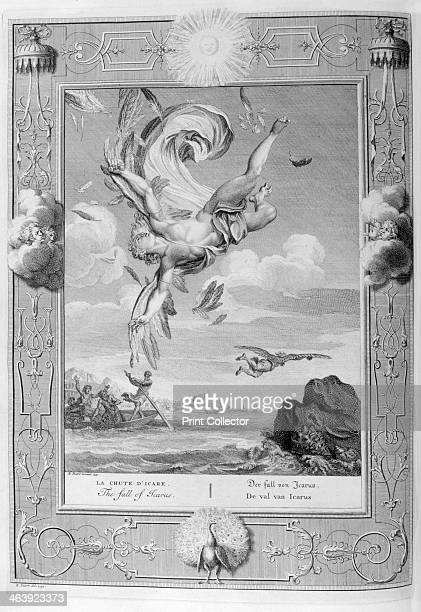 The fall of Icarus 1733 A plate from Le temple des Muses Amsterdam 1733 Found in the collection of Jean Claude Carriere
