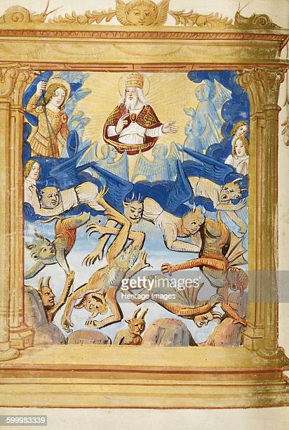 The Fall of Lucifer From Book of Hours c 1500 Private Collection Artist Anonymous