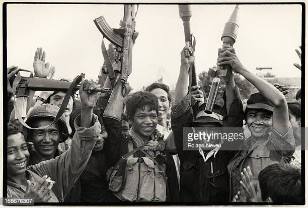 The fall of Phnom Penh. After a few hours of sporadic gunfire, a group of Khmer Rouge regulars enter the Cambodian capital. Several civilians went...