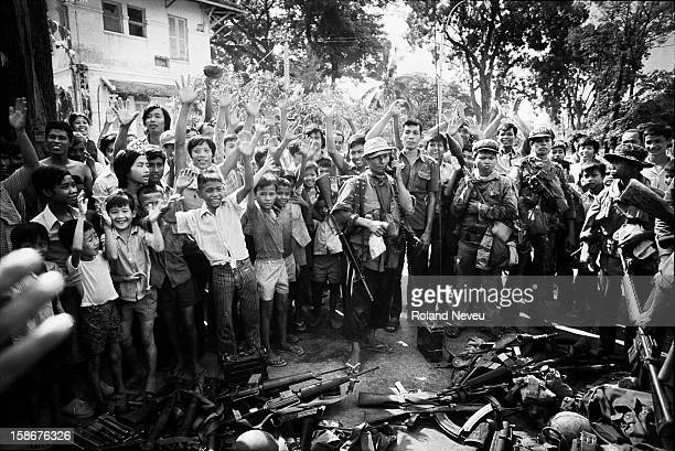 The Fall of Phnom Penh to the Khmer Rouge on April 17 1975 As the Khmer Rouge guerrilla are entering the city call are made to collect and put in...
