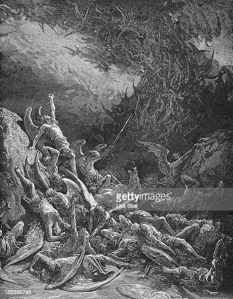 the fall of rebel angels - hell stock pictures, royalty-free photos & images