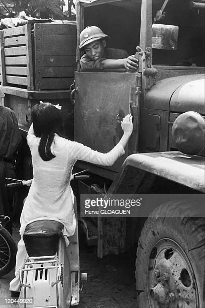 The Fall of Saigon in Vietnam on April 30 1975 The arrival of North Vietnamese troops and first contact with the population