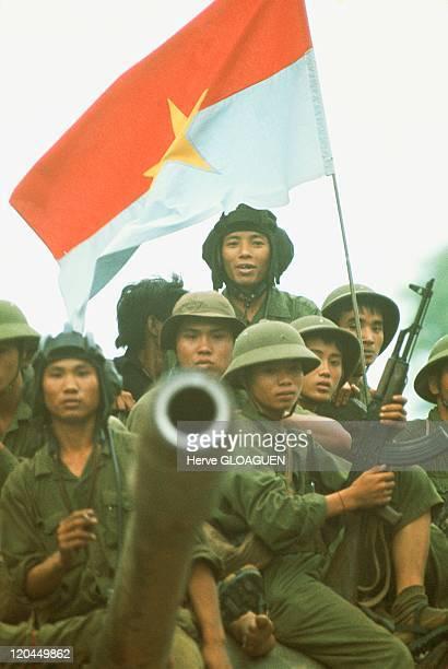 The Fall of Saigon in Vietnam on April 30 1975 The northVietnamese tanks surround the Doc Lap Palace